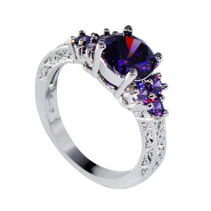 Luxxurio Purple Zircon Ring - Luxxurio