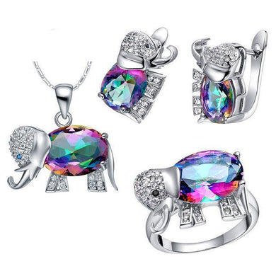 Luxxurio Bridal Elephant Jewelry Set