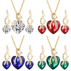 Luxxurio Heart Jewellery Set
