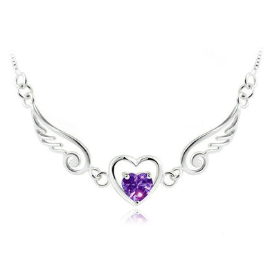 Luxxurio Angel Heart Necklace