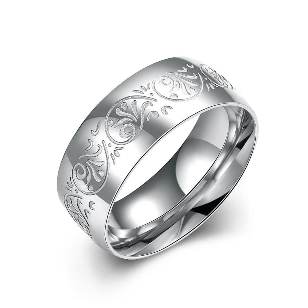Luxxurio Silver Stainless Steel Ring