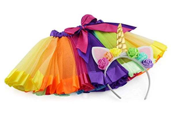 Rainbow Unicorn Tutu Skirt & Headband - Unicorn-Finds