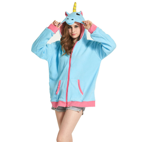 Unicorn Zipper Hoodie - Unicorn-Finds