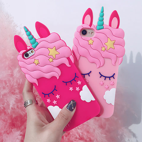 Adorable 3D Silicone Unicorn iPhone Cases - Unicorn-Finds