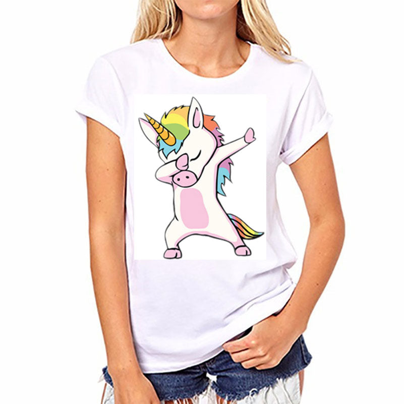 Dabbing Unicorn Ladies T-Shirt - Unicorn-Finds