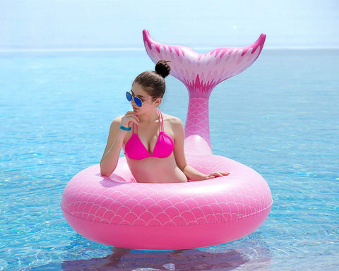 Giant Mermaid Tail Pool Floaty! - Unicorn-Finds