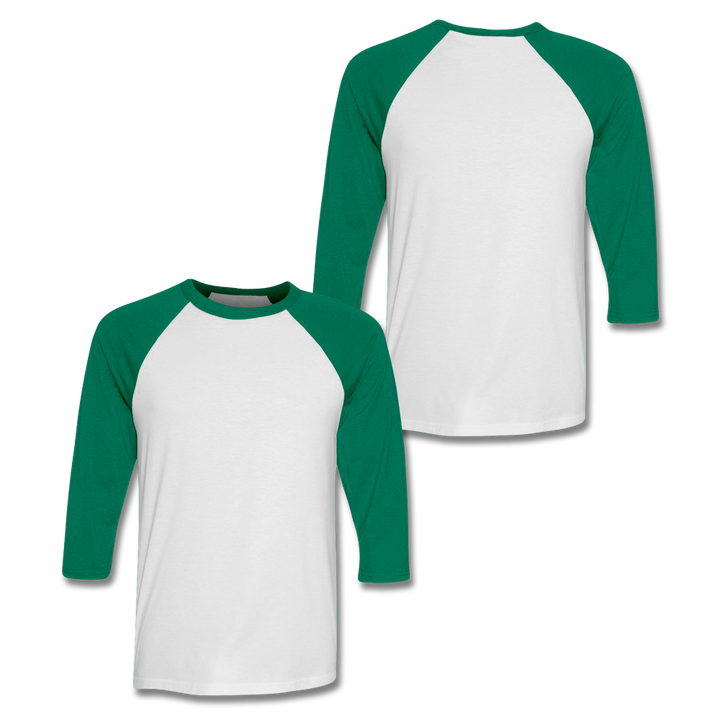 Custom Kelly Green Baseball Shirt