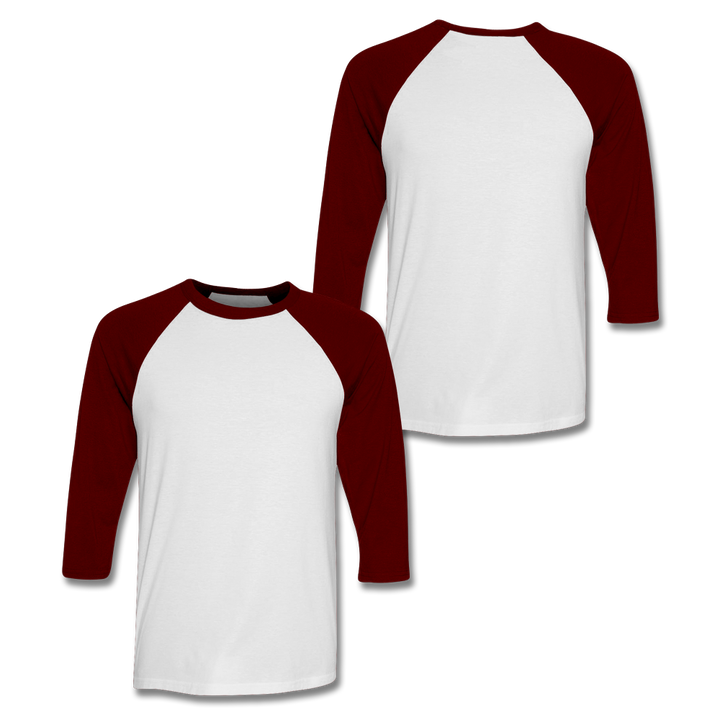 Custom Maroon Baseball Shirt