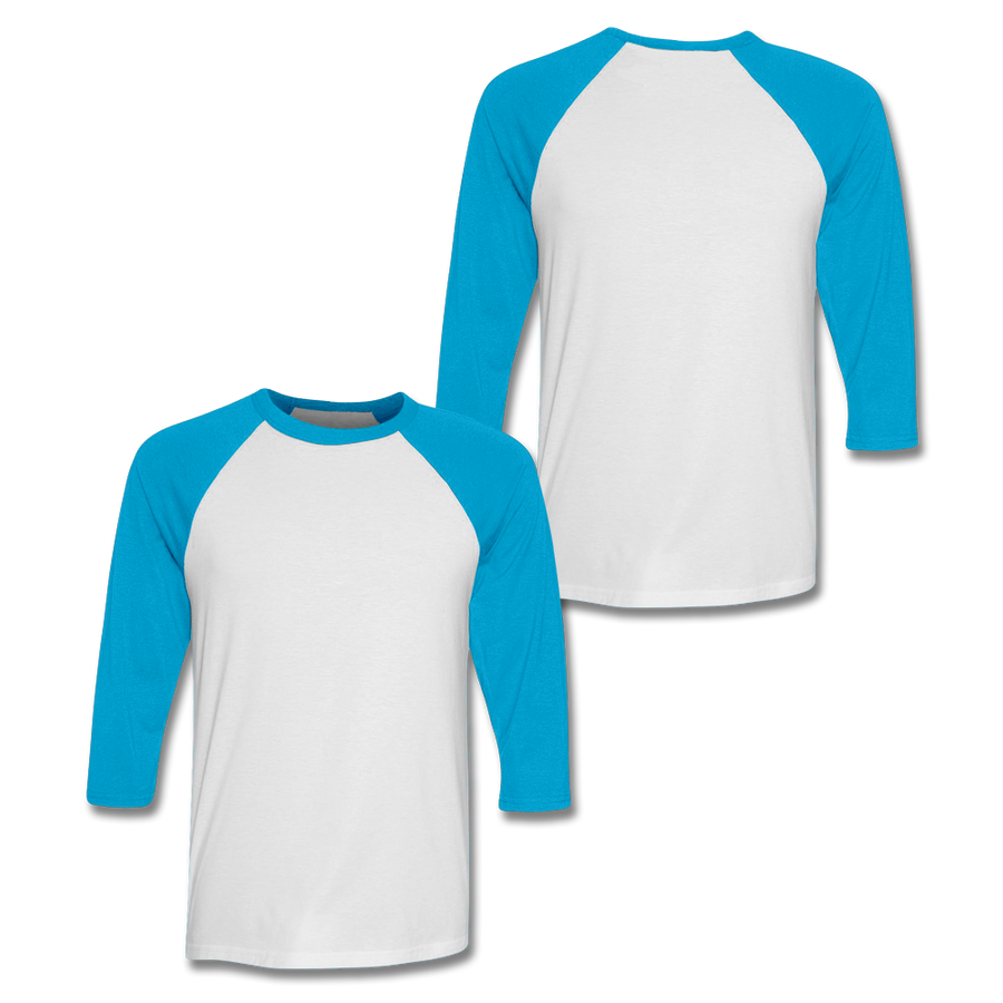 Custom Neon Blue Baseball Shirt