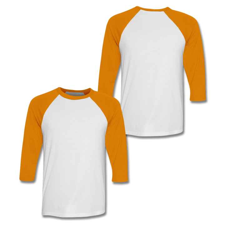 Custom Orange Baseball Shirt