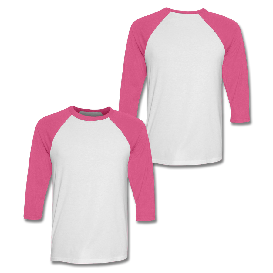 Custom Pink Baseball Shirt