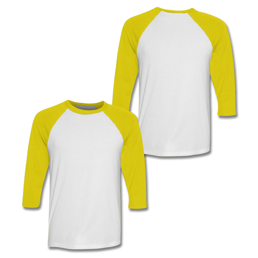 Custom Yellow Baseball Shirt