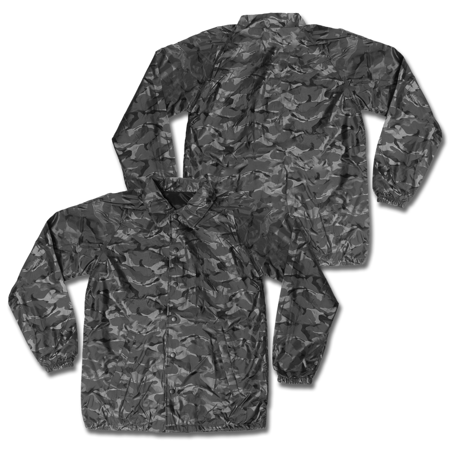 Custom Black Camo Coaches Jacket