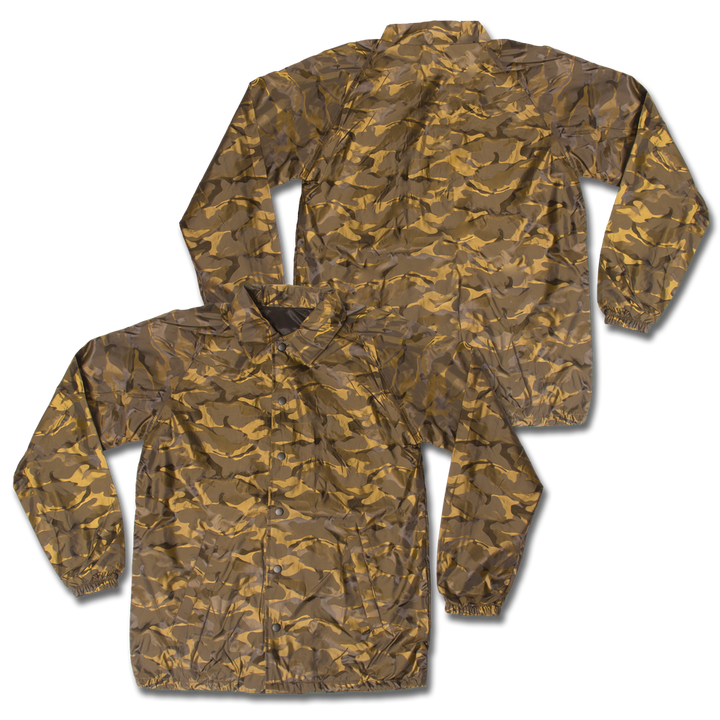 Custom Tan Camo Coaches Jacket