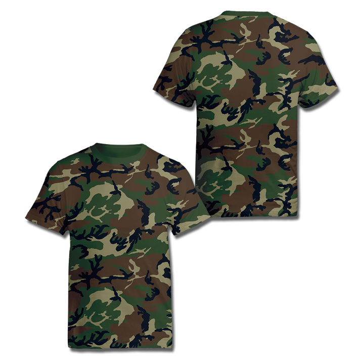 Custom Woodland Camo Shirt