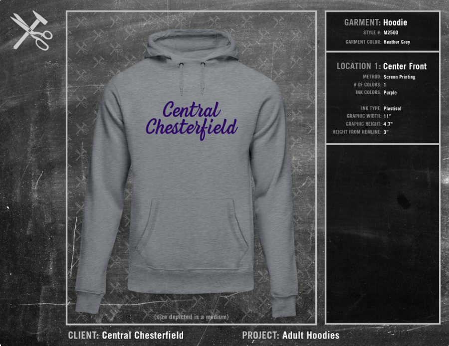 Central Chesterfield Little League Adult Hoodie