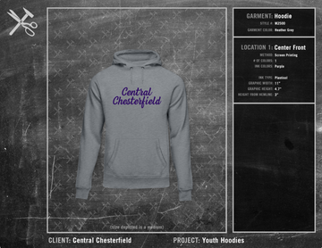 Central Chesterfield Little League Youth Hoodie