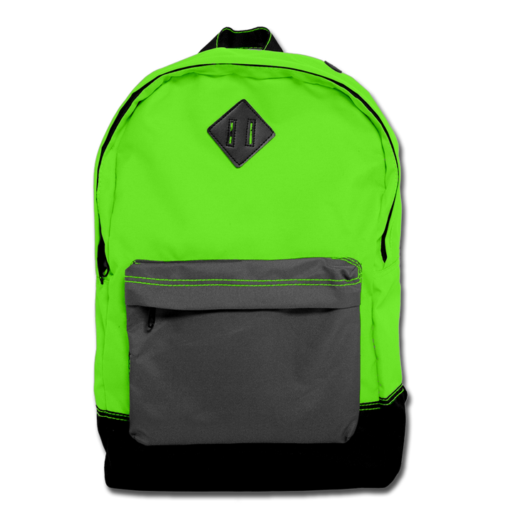 Custom Green Backpack