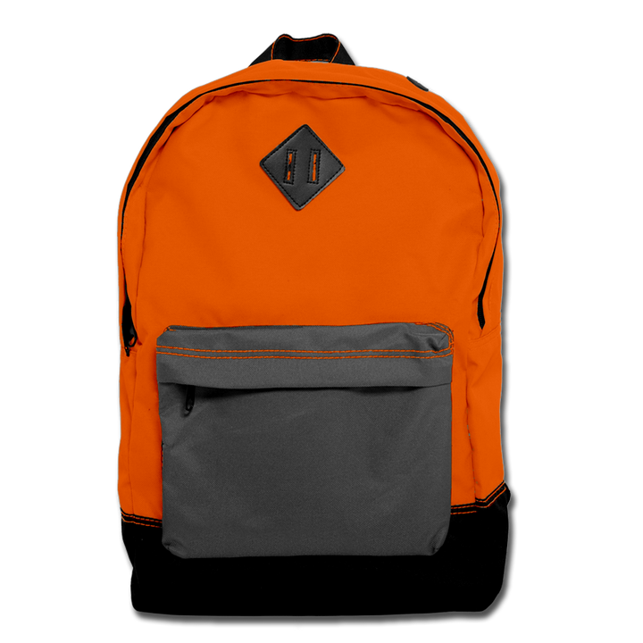 Custom Orange Backpack