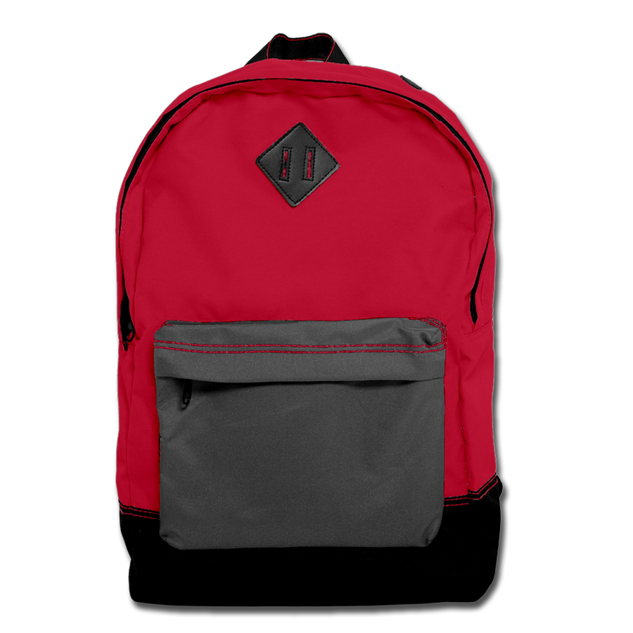 Custom Red Backpack