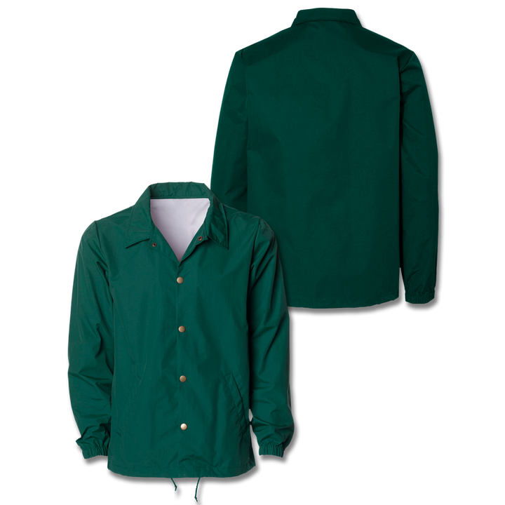 Custom Forest Green Coaches Jacket