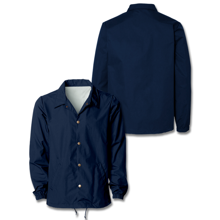 Custom Navy Coaches Jacket