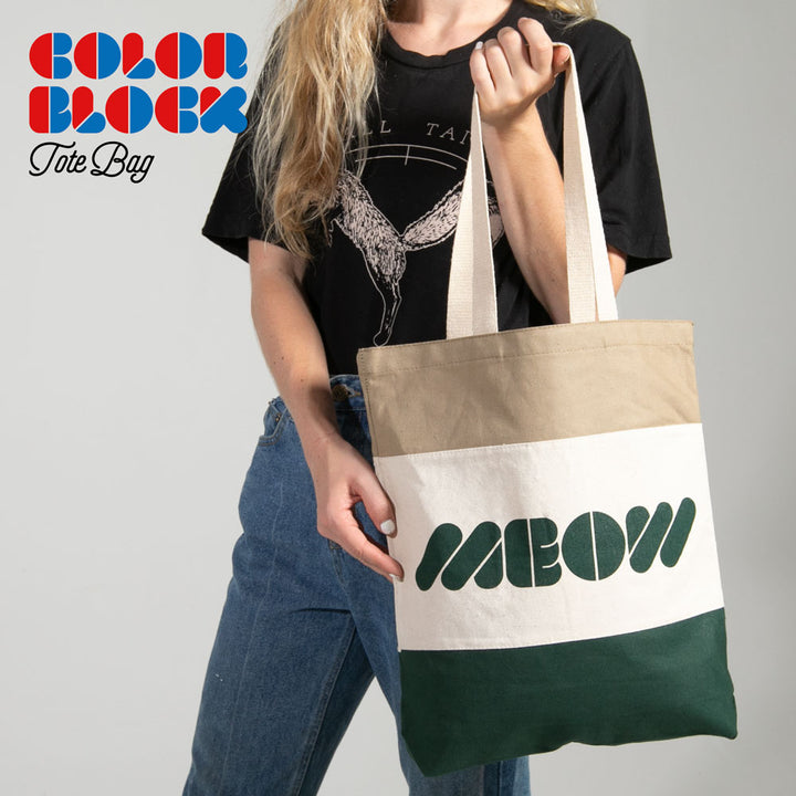 Colorblock Tote Bag