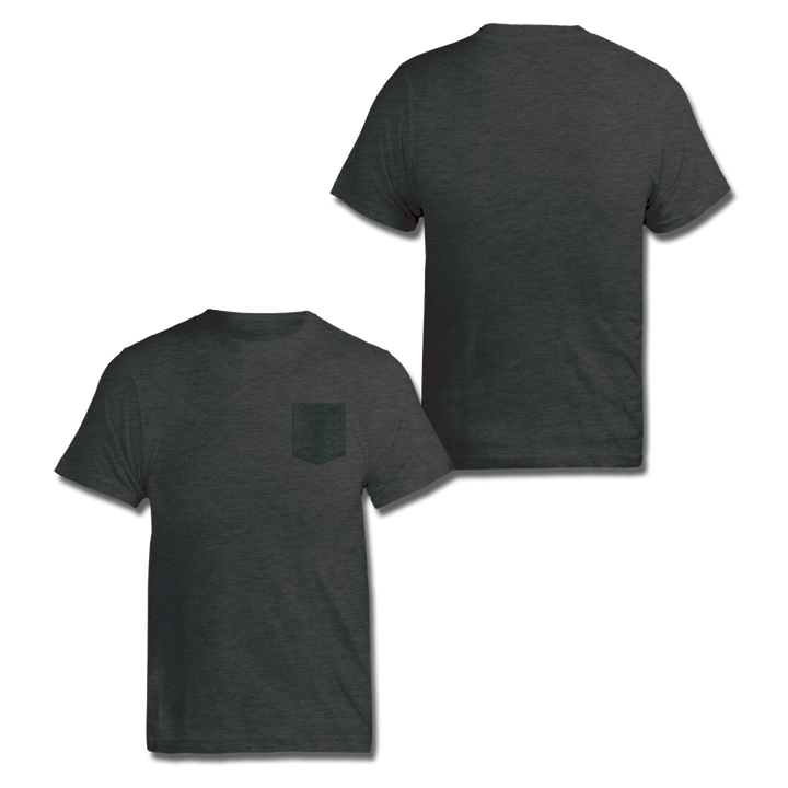 Custom Dark Grey Pocket Shirt