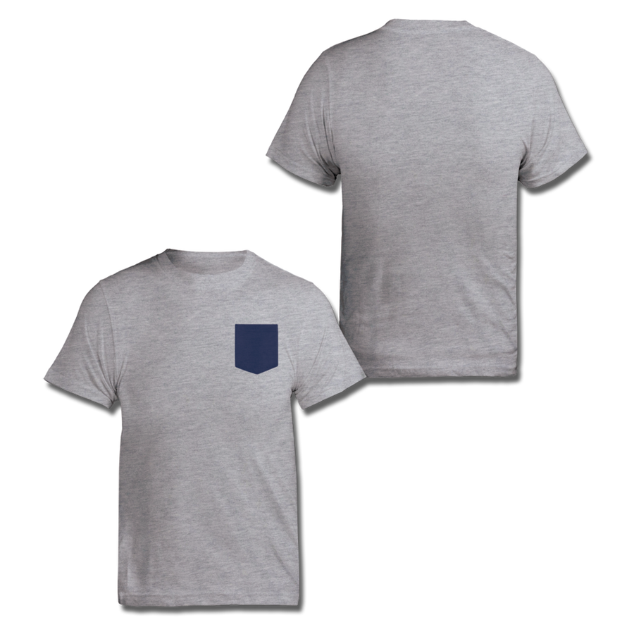 Custom Grey and Navy Contrast Pocket Shirt