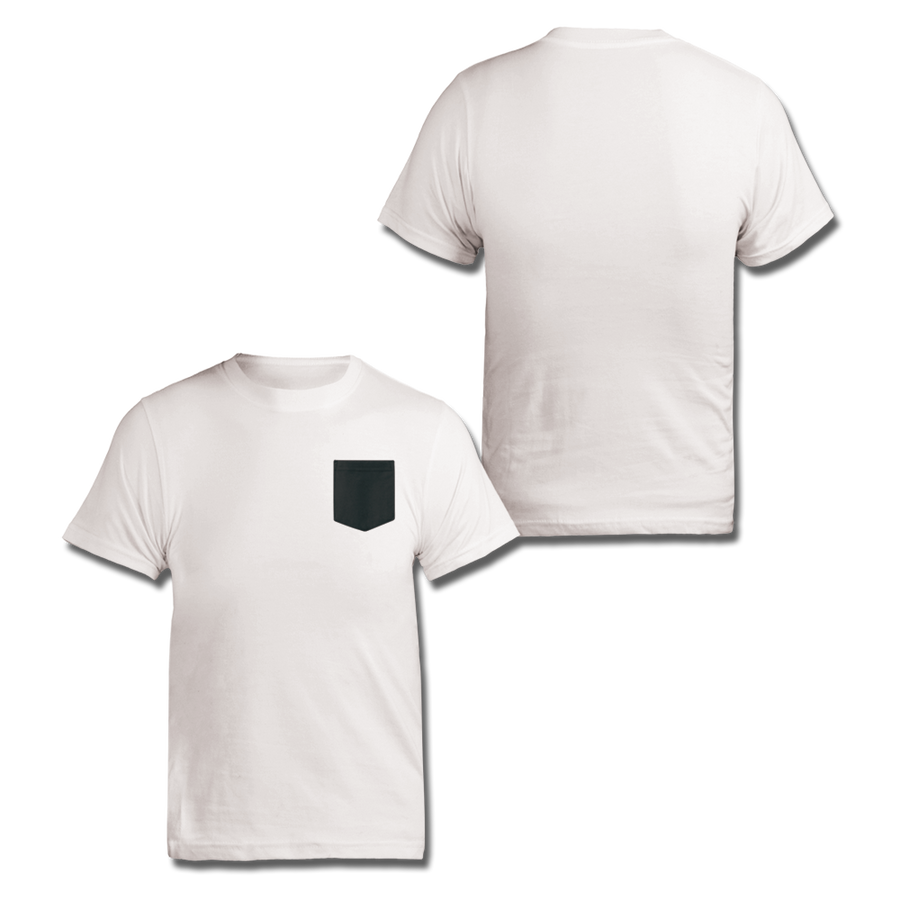 Custom White and Black Contrast Pocket Shirt
