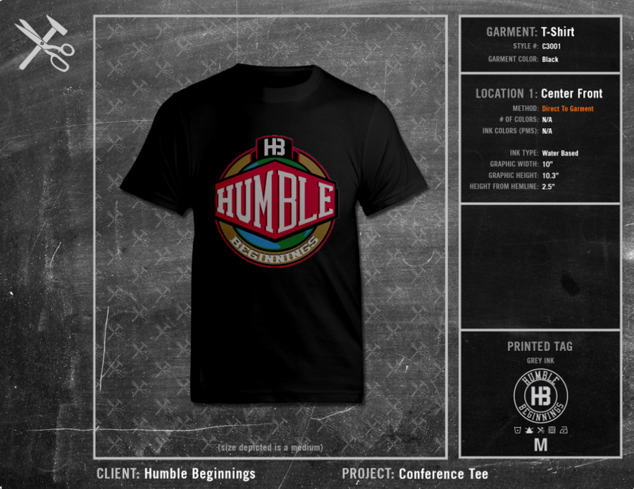 Humble Beginnings Conference Tee 2