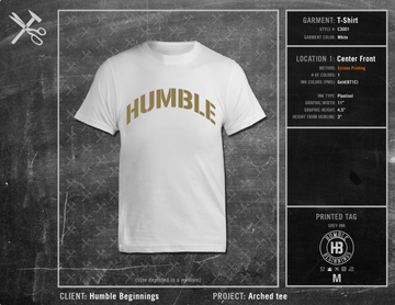 Humble Beginnings Arched Tee