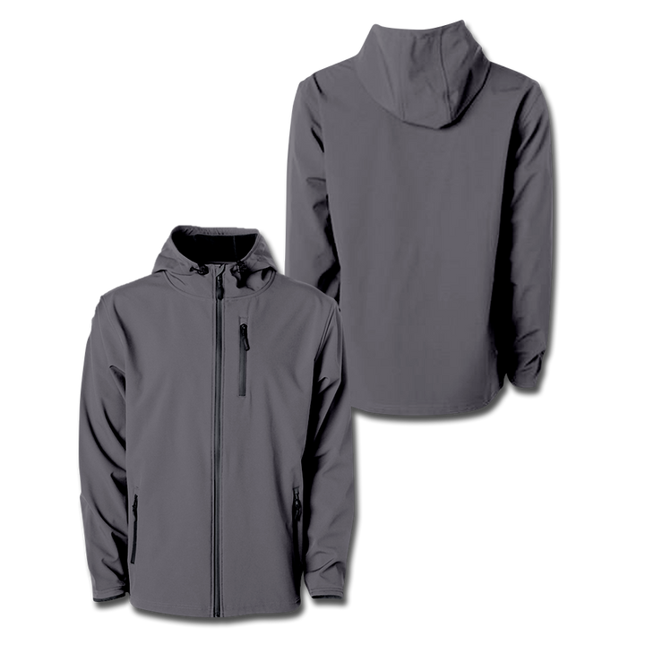 Custom Graphite Hooded Softshell Jacket