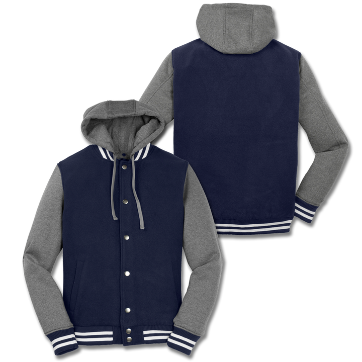 Custom Navy Letterman Jacket