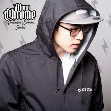 MonoChrome Hooded Coaches Jacket