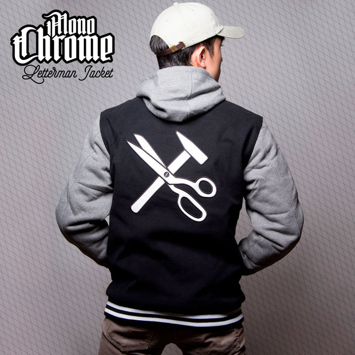 MonoChrome Letterman Jacket