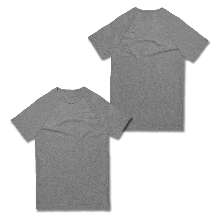 Custom Grey Raglan Shirt