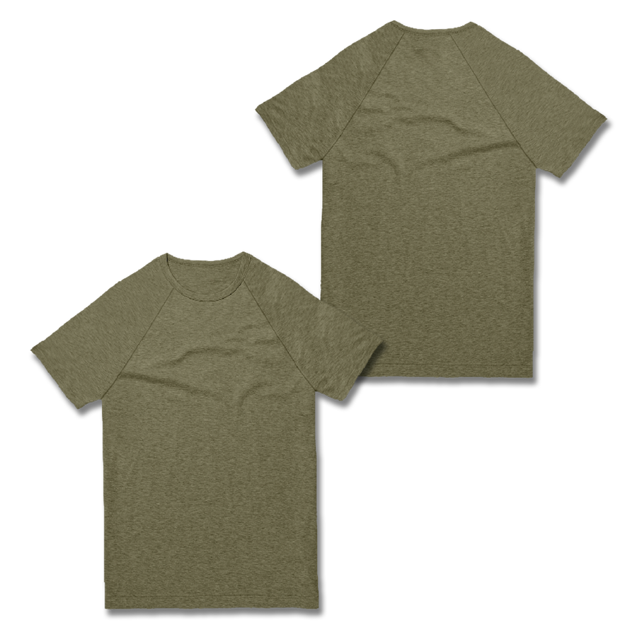 Custom Olive Green Raglan Shirt