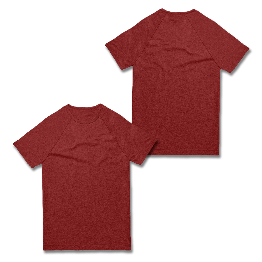 Custom Red Raglan Shirt