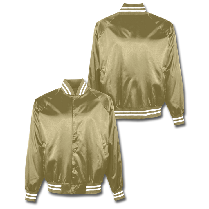 Custom Gold Satin Bomber Jacket