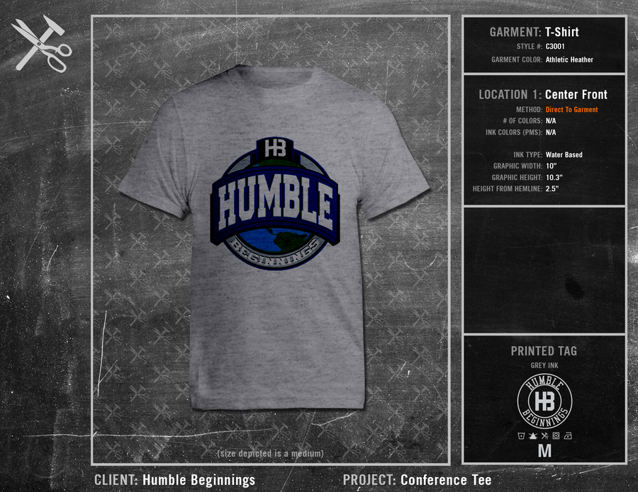 Humble Beginnings Conference Tee 1