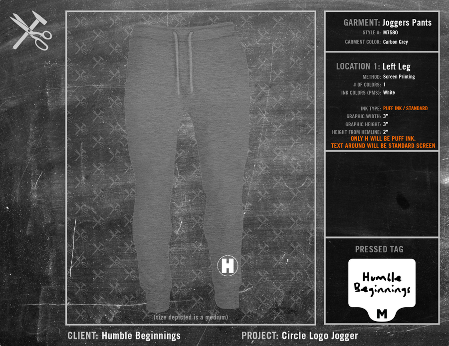Humble Beginnings Circle Logo Jogger