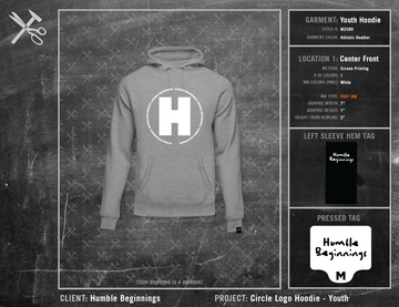 Humble Beginnings Circle Logo Hoodie Youth