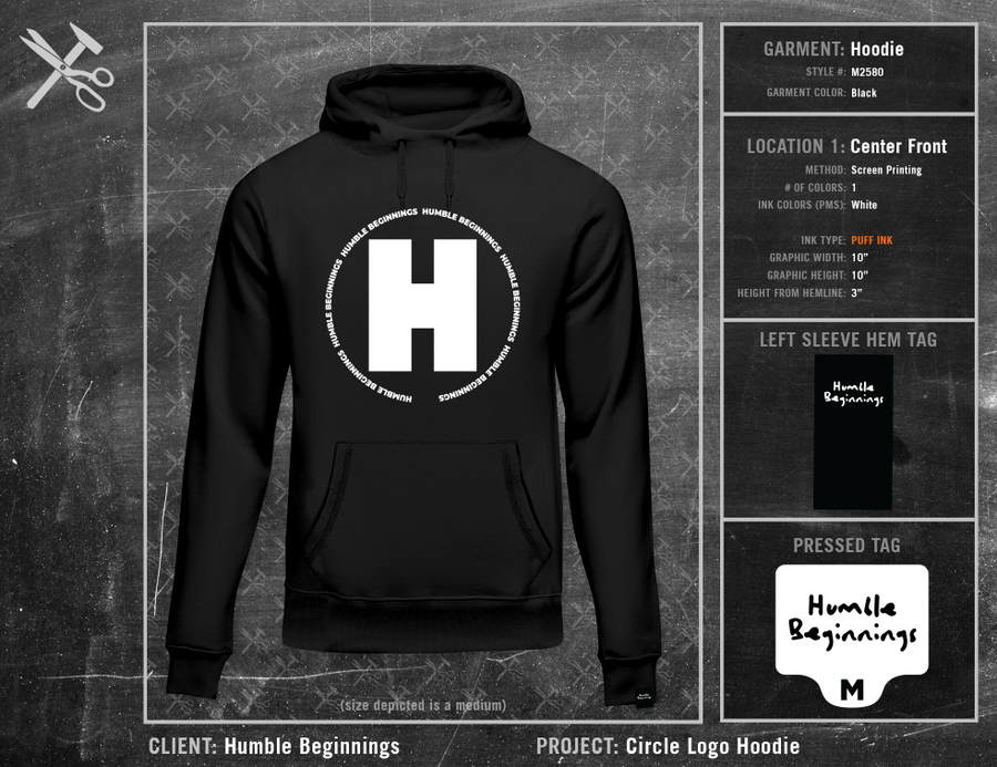 Humble Beginnings Circle Logo Hoodie