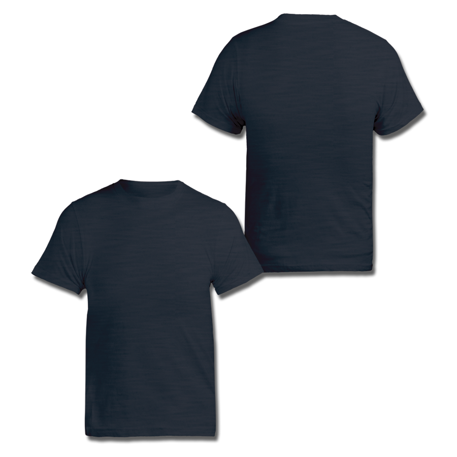 Custom Navy Slub Tee