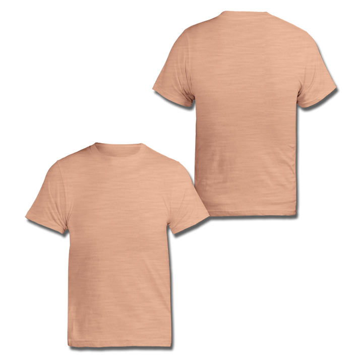 Custom Peach Slub Tee