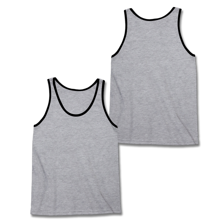 Custom Grey and Black Tank Top
