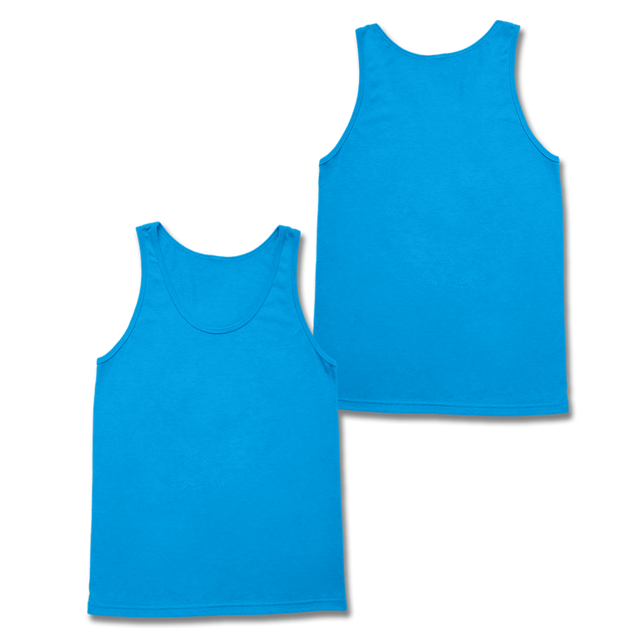 Custom Neon Blue Tank Top