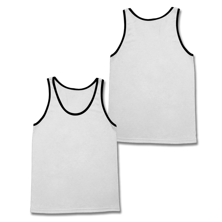 Custom White and Black Tank Top