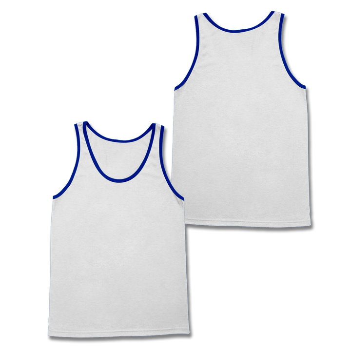 Custom White and Royal Tank Top